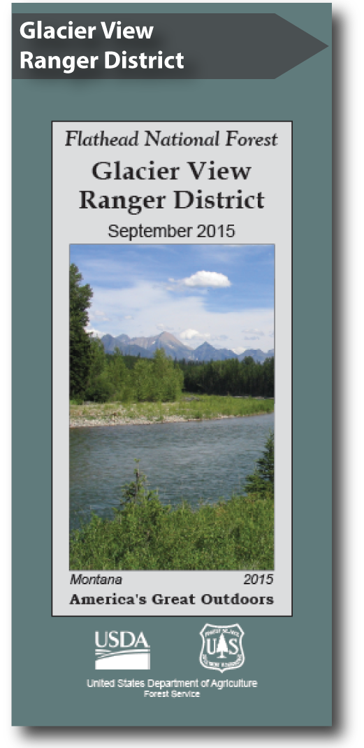 Glacier View Ranger District Map Cover