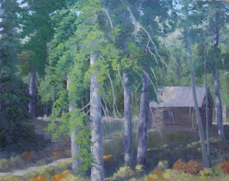Water color of the Challenge Creek cabin.