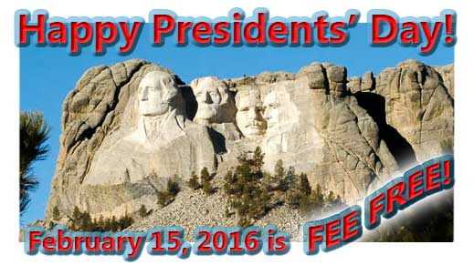 Fees waived at forest day use sites on February 15 for Presidents' Day