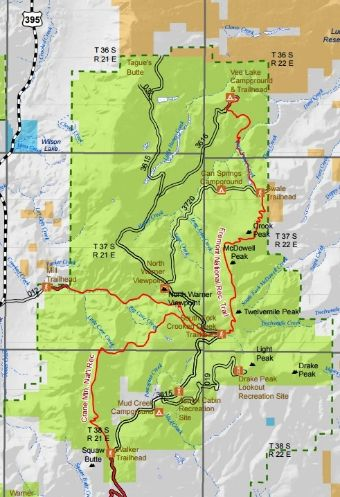 Fremont-Winema National Forest - Crane Mountain National Recreation on