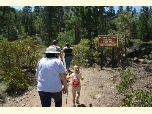 Hikers enter the San Gorgonio Wilderness