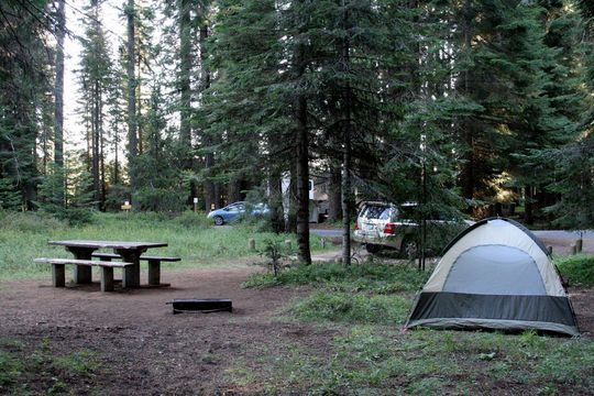 Campsite at Aspen Point Campground