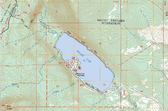 Snapshot from Miller Lake Topo Map showing vicinity