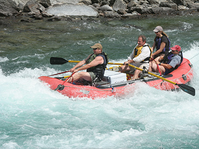 Whitewater rafting on the Middle Fork of the Flathead