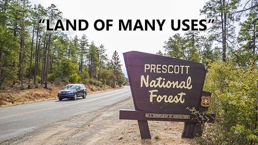 Prescott National Forest is a land of many uses