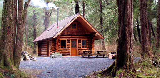 Starrigavan Creek Cabin, Sitka, Alaska.