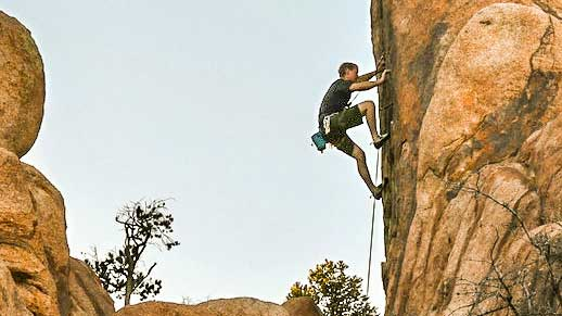 climbing Climber on Granite Mountain