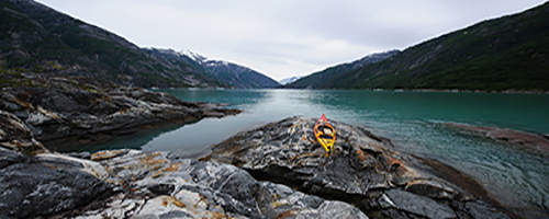 Kayak on Sawyer Island Tracy Arm - resized