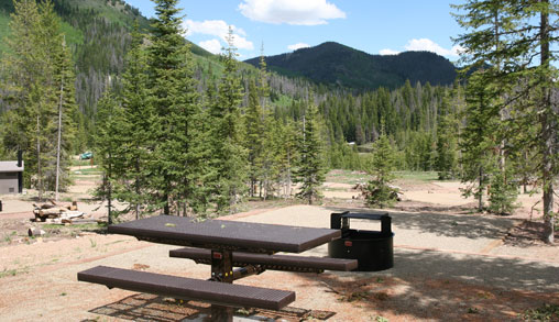 Hahns Peak Lake Campground camp site