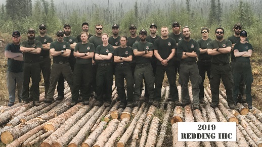 Photograph of Forest Service Elite firefighting training crew