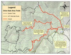 Map of temporary trails closures