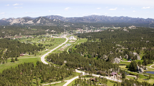 Aerial Photo of Custer