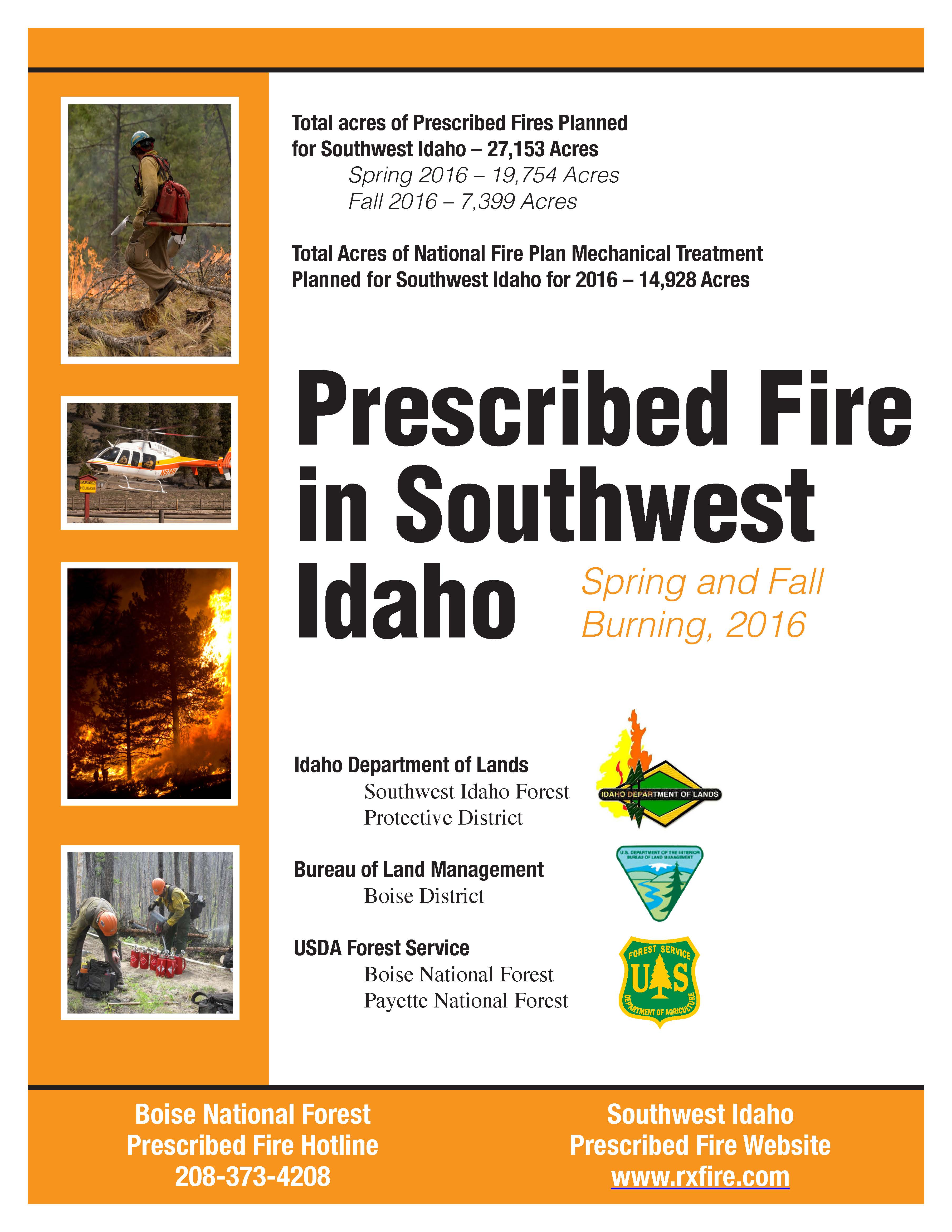 2016 photo of RX fire booklet