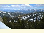 Panoramic view of backcountry on the south end of the Lake Tahoe Basin near Christmas Valley.