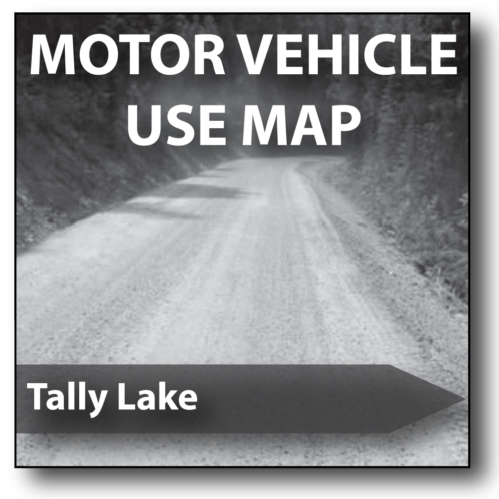 Cover of the 2016 Tally Lake Ranger District Motor Vehicle Use Map