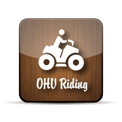 wooden button for OHV Riding