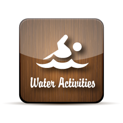 wooden button for water activities