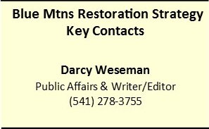 Contact Information on the Forest Resiliency Project