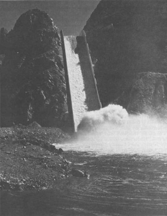 A picture of Granby Dam Spillway