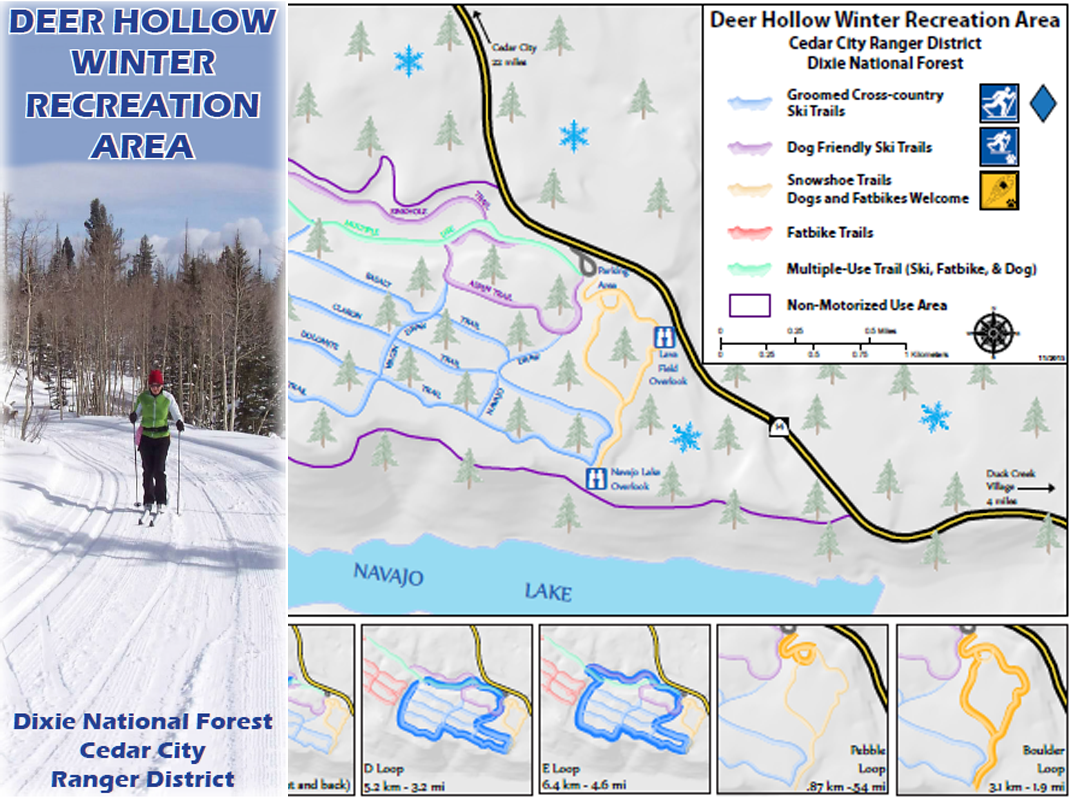 Deer Hollow Winter Rec Map Image