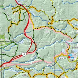 Map of the Rattlesnake Quiet Area seasonal closure