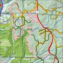 Map of the Woods Canyon Quiet Area seasonal closure