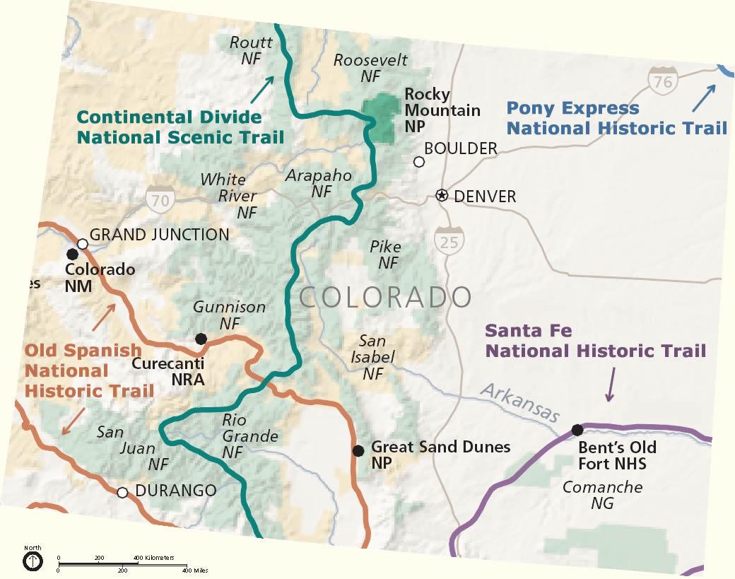 Sand Dunes Colorado Map.Colorado National Trails Information