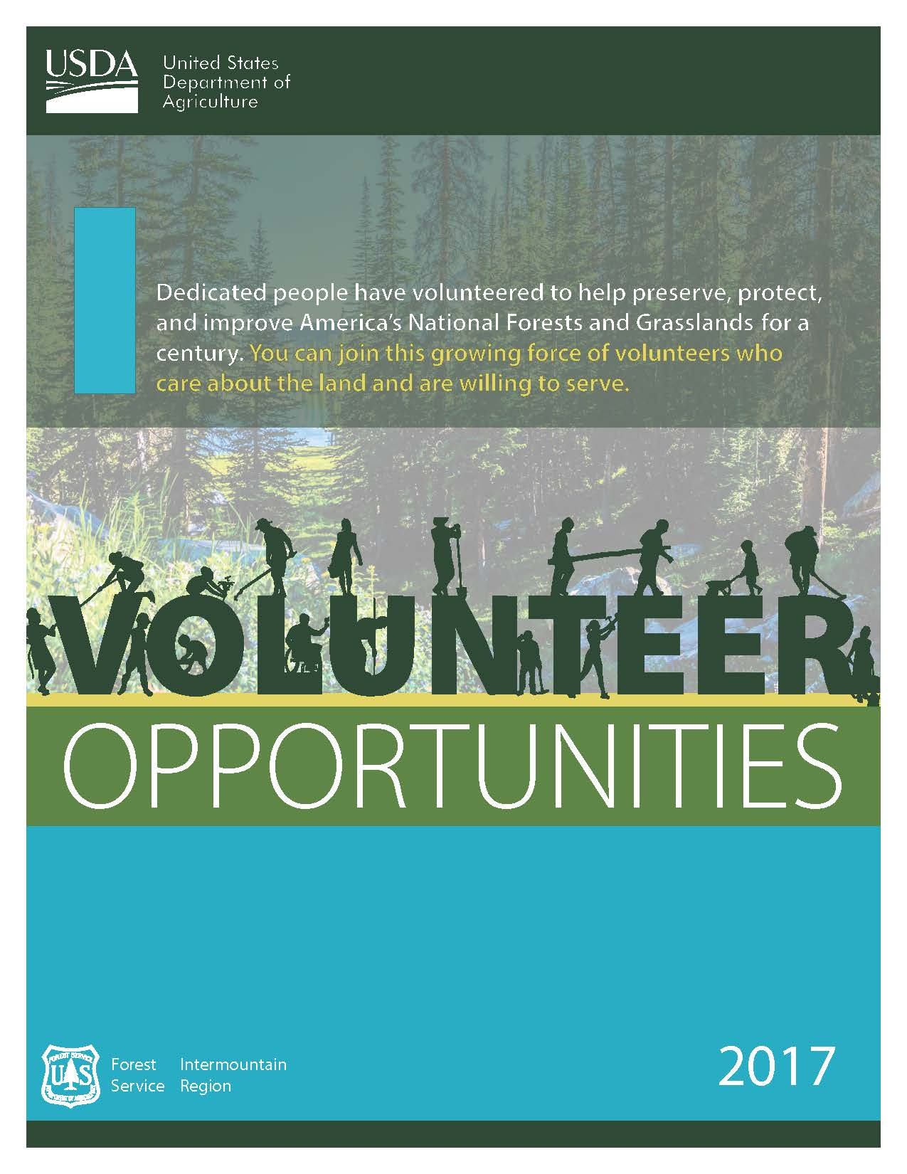 Photo of cover page of 2016 Volunteer book