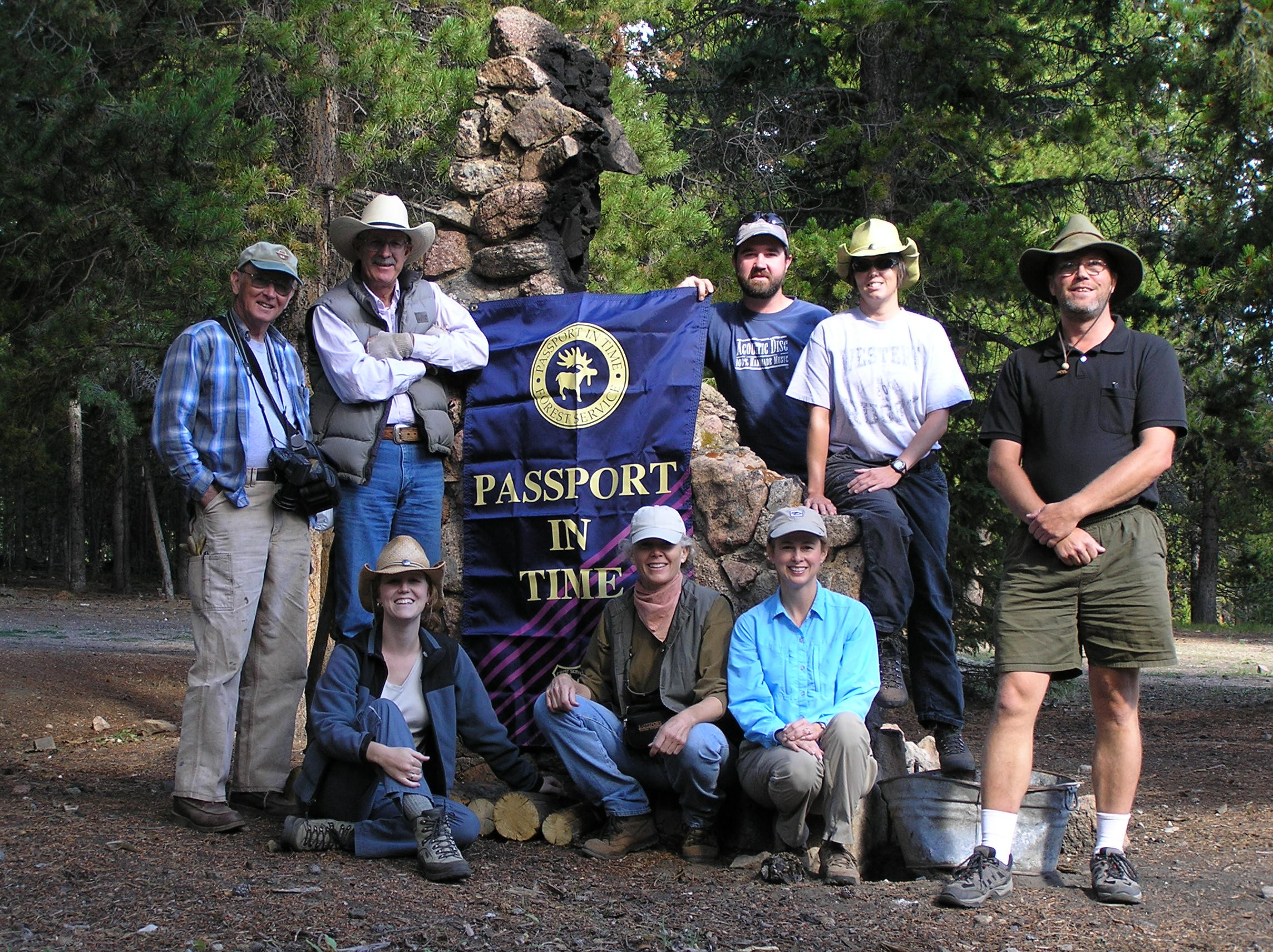 Picture of Passport in Time Archaeology volunteers