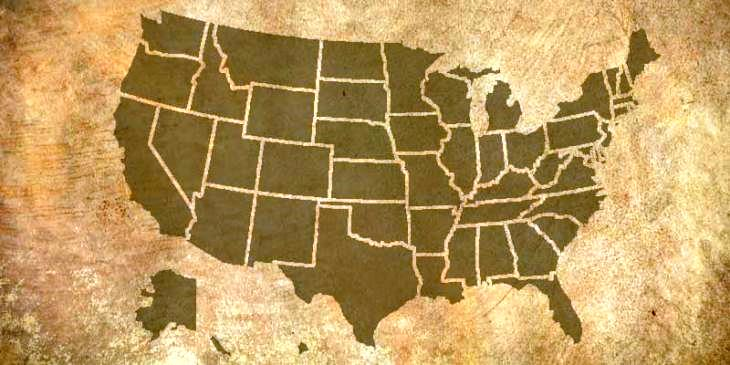 photo of map of United States
