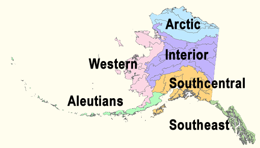 Map of state of Alaska
