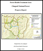 Forest Health Treatment Area Progress Report Cover Photo
