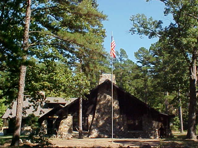 The Great Hall at Camp Ouachita of the Ouachita National Forest