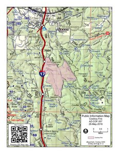 Map of the Cowboy Fire May 26, 2016