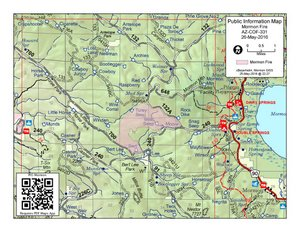 Map of the Mormon Fire May 26, 2016