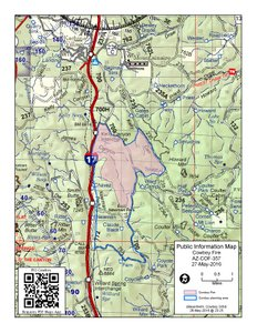 Map of the Cowboy Fire May 28, 2016