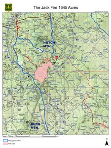 Map of the Jack Fire June 3, 2016