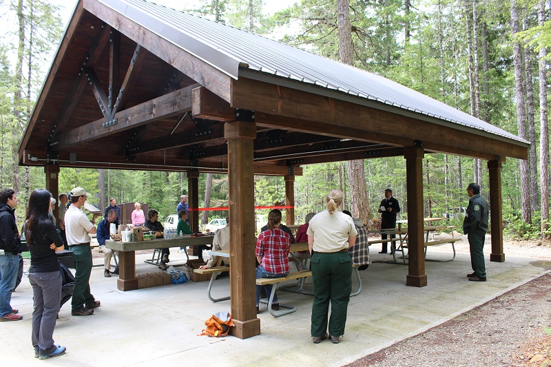 Big Creek Campground shelter