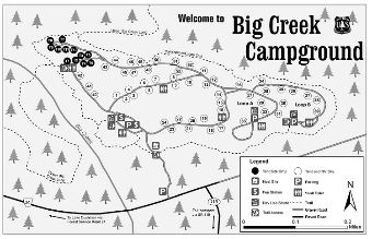 Map of Big Creek Campground