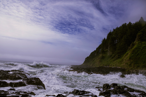 A view of Devils Churn at Cape Perpetua