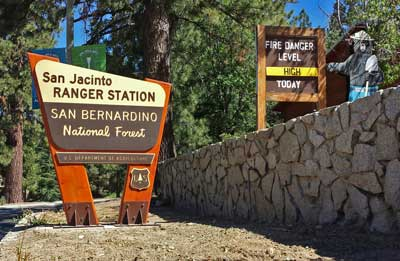 San Jacinto Ranger Station sign in Idyllwild
