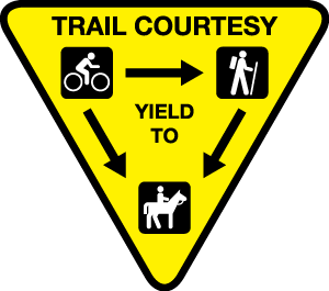 Multi Use Trail Etiquette Signage