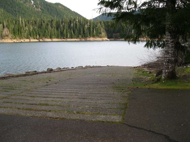 Boat launch at Coho Campground