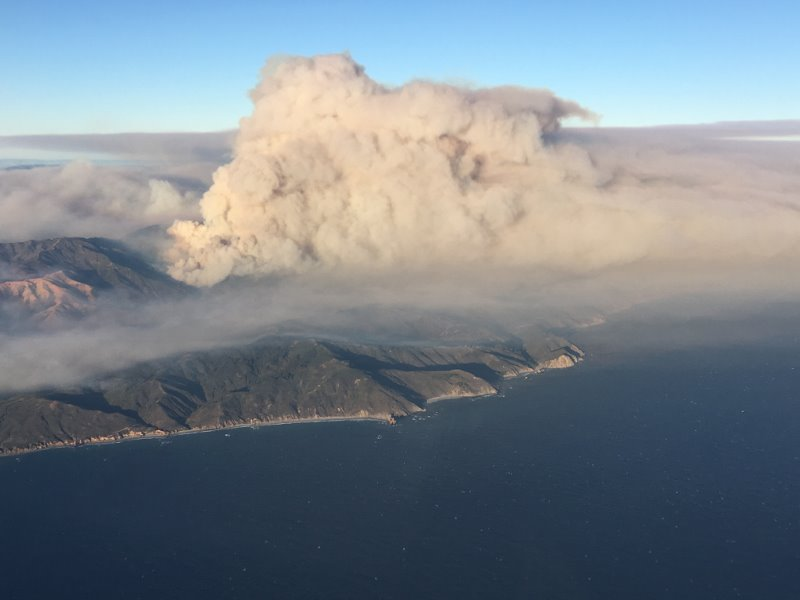 Aerial photo of Soberanes Fire
