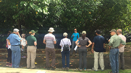 Talking soils with a group on a San Juan ULTRA field trip