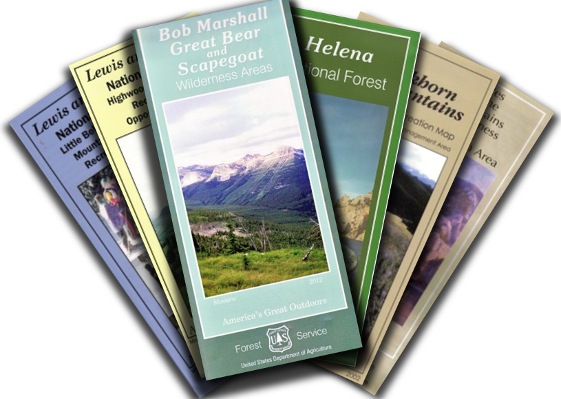 Helena National Forest Maps Publications - Us forest service topo maps