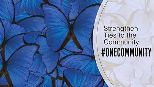 Strengthen ties to the community Hashtag OneCommunity