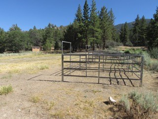 Stables at the Green Spot Equestrian Group Campground.