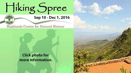 Click photo to learn about the Highlands Center's 2016 Hiking Spree Sep 10 to Dec 1