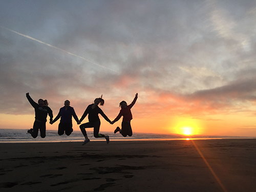 AmeriCorps Yakutat Summer 2016 Sunset at Cannon Beach